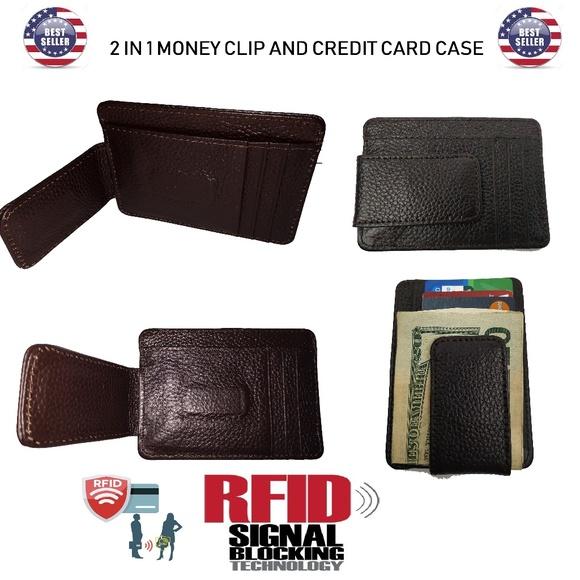 0cdb4eb85119 RFID Blocking, Genuine Leather Slim Wallet